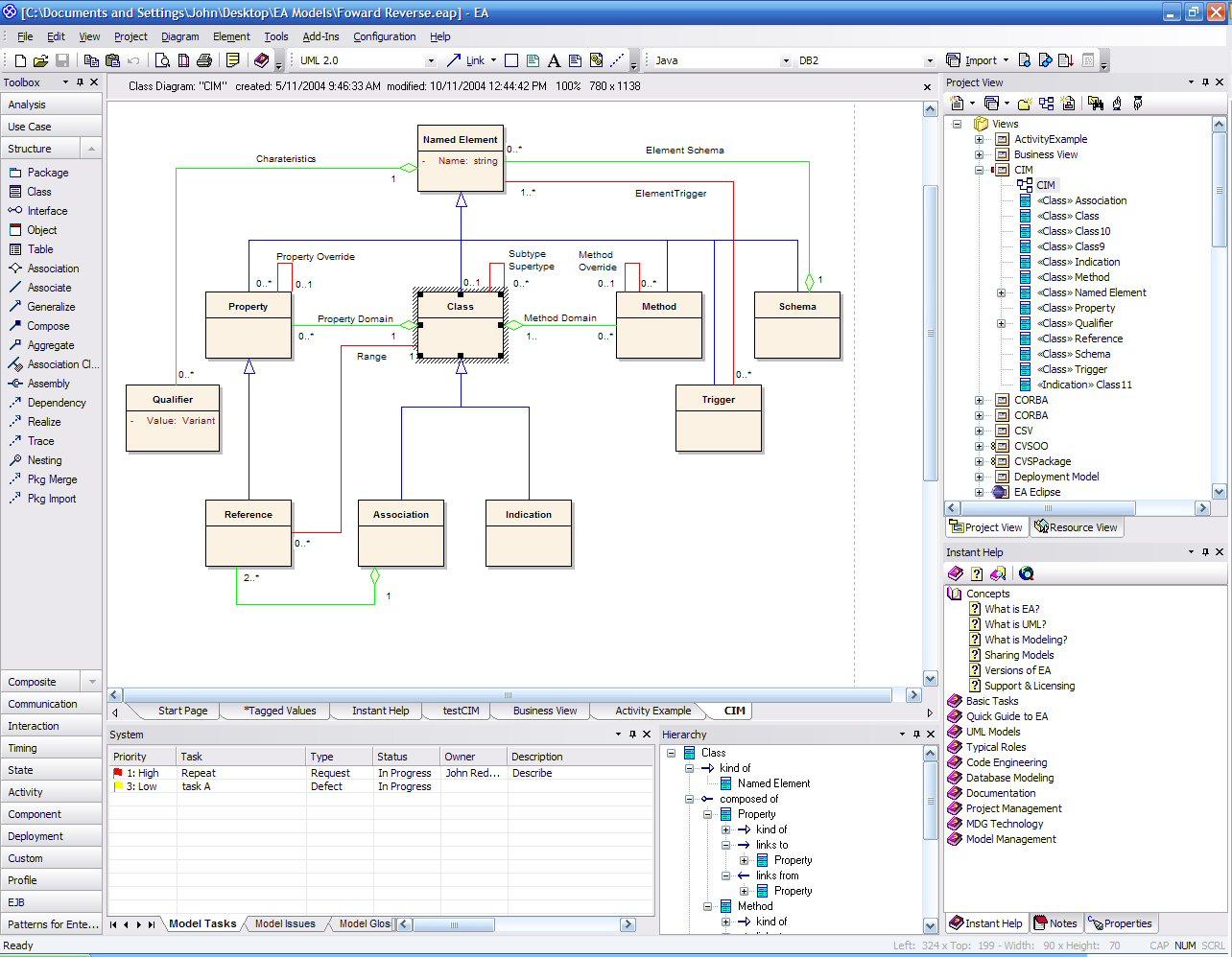 Uml 20 modeling tool enterprise architect 50 for Tools for enterprise architecture